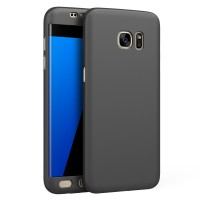 Samsung S7 Edge 360 Full Cover Baby Skin Ultra Thin Hard Case Black