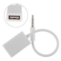 Kabel AUX Audio Plug Jack 3.5mm Male to USB 2.0 Female Adapter