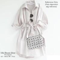 Villa Blouse Warna Silver Style Baju Hijab Ladies / Wanita