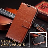 Wallet Case Samsung A5 2015 / A500 Leather Flip Wallet Case