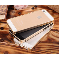 Ultra Thin Aluminium Metal Bumper Case Single Color for iPhone