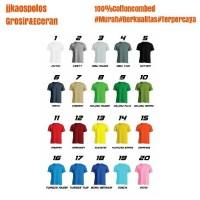 Jual Size XXL Warna- Kaos polos cotton combed 20s Murah