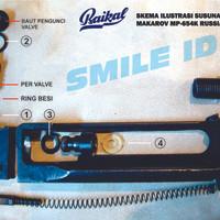 BAIKAL MP-654K Spare seals set | Repair kit for Original