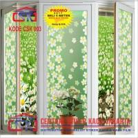 Jual sticker/stiker kaca motif bunga hijau Murah
