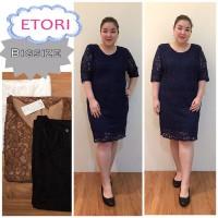 harga Etori Dress Brukat Jumbo Atasan bigsize Wanita Dress Brokat Furing Tokopedia.com