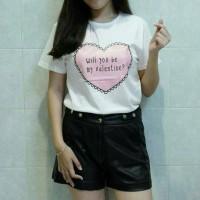 Kaos Tumblr Tee - Will You Be My Valentine