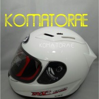 HELM KYT RC7 SOLID WHITE PUTIH FULL FACE