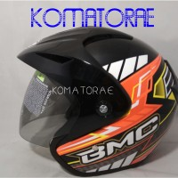 HELM BMC BEYOND BLACK RED FLUO HALF FACE