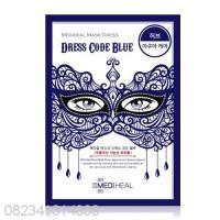 MEDIHEAL MASK DRESS CODE BLUE, MASKER MEDIHEAL DRESSCODE BIRU