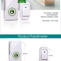Jual Bel pintu wireless Receiver listrik 220V 36 suara up to 200m Door Bell Murah