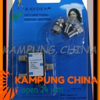 Splitter TV Merk Rayden 2 Cabang (CATV Directional Cou Ready Stock