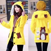 [Jaket Funny Kuning LO] jaket wanita babytery kuning