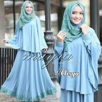 gamis alisya syari baju muslim pakaian hijab modis modern
