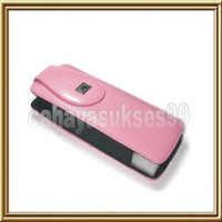 Sarung hp nokia N9500 leather case pink