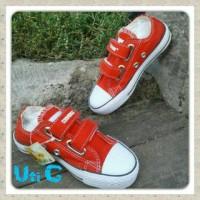 Sepatu Anak Perempuan Wanita Converse Casual Sekolah warna merah