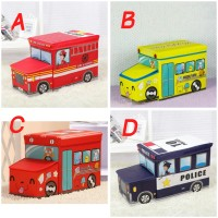 Jual Toy box bus kotak mainan bis (storage ice cream kursi lucu bunchems) Murah