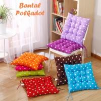 Bantal Empuk Polkadot (Ada talinya, bisa diikat ke kursi)