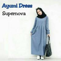 Ayumi Dress Gamis Jumbo Baju Syar i Atasan Wanita Baju Atasan Wanita