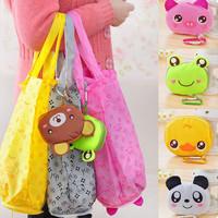 Tas belanja lucu serbaguna lipat foldable karakter boneka hewan bag
