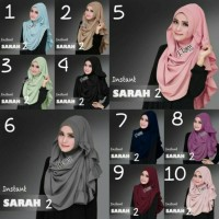 Jual Kerudung Instan Sarah | Jilbab Syari Sarah | Jilbab Modern Terbaru Murah