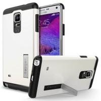 Spigen Hard Case Samsung Galaxy Note 4 Casing Cover HP Smartphone Hand