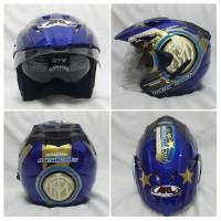 Helm Bola Inter Milan Biru Double Visor SNI