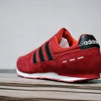 1ba657920eaa8 Sepatu Sport Adidas Neo City Racer Grade Ori Merah Hita Murah