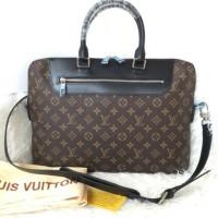 Tas Kerja Pria Wanita LV Porte Document Jour Briefcase Laptop Import
