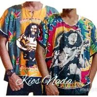 harga Baju Pantai / Kaos Santai - Motif Bob Marley Tokopedia.com