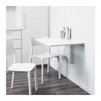 Ikea Norberg ~ Meja Lipat Putih Pasang Di Dinding | Wall-Mounted Table