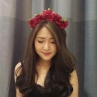 Jual Bando Bunga Mawar (flower Crown) Murah