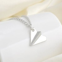 Jual Paper Plane Silver Necklace / Kalung Harry Styles One Direction Murah