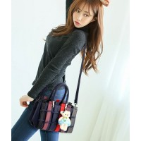 TAS SHOULDER BAG BAHU BIRU KANTOR IMPORT HANDBAG FASHION BONEKA MURAH