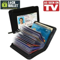 Jual Lock Wallet Secure Credit Card Purse/Dompet Kartu Kredit  ATM KTP SIM Murah