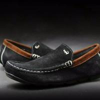 sepatu lacoste cevany black suede