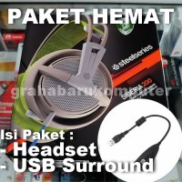 Paket SteelSeries Siberia 200 Green Headset + USB Surround Soundcard