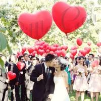 Jumbo Heart Latex Balloon / Balon Hati Besar ( wedding / prewedding)