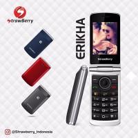 harga HANDPHONE STRAWBERRY FLIP S3 ERIKHA DUAL GSM LCD 2.8 INCH MP3 FM RADIO Tokopedia.com