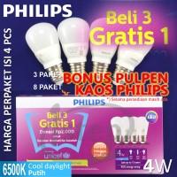 harga Lampu LED Philips Bulb 4W beli 3 gratis 1 Tokopedia.com