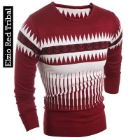 Sweater Rajut Elzio Red Tribal