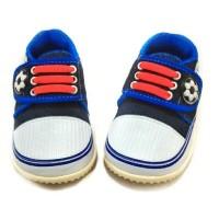 Jual Sepatu bayi anak laki-laki denim bunyi Babykiddies Murah