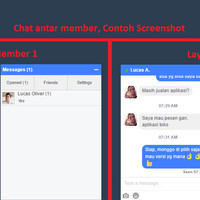 Aplikasi chat web responsif desain all browser IOS Android open source