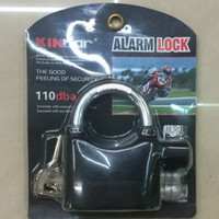 Original Gembok Alarm Kinbar Gembok Motor Pagar Kunci Pintu Socket