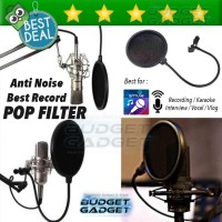 Jual Pop Filter Cover Microphone Recording for Smulle, VLOG, dll. Murah
