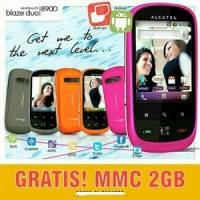 ALCATEL ONE TOUCH 890D - FREE MMC 2GB - HP ANDROID MURAH