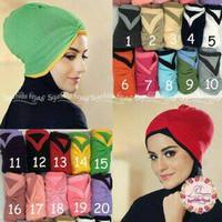 Hijab Inner Kerut Anti Pusing 2 Warna/ Ciput Kerut Anti Pusing /Ciput