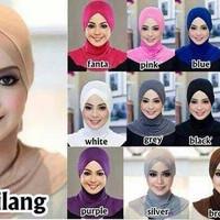 Hijab Antem Silang / Inner Silang / Dalaman Jilbab / Antem Ninja SIlan
