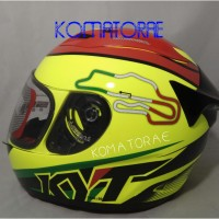 HELM KYT RC7 RC 7 #15 ITALY YTELLOW FLUO FULL FACE