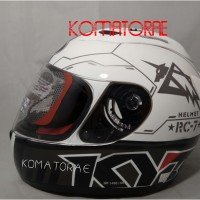 HELM KYT RC7 RC 7 11 WHITE BLACK GUN METAL FULL FACE
