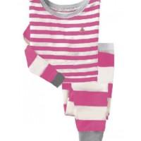 Baju Tidur Anak Tangan Panjang Murah Baby GAP H.K - Fuchsia Stripes